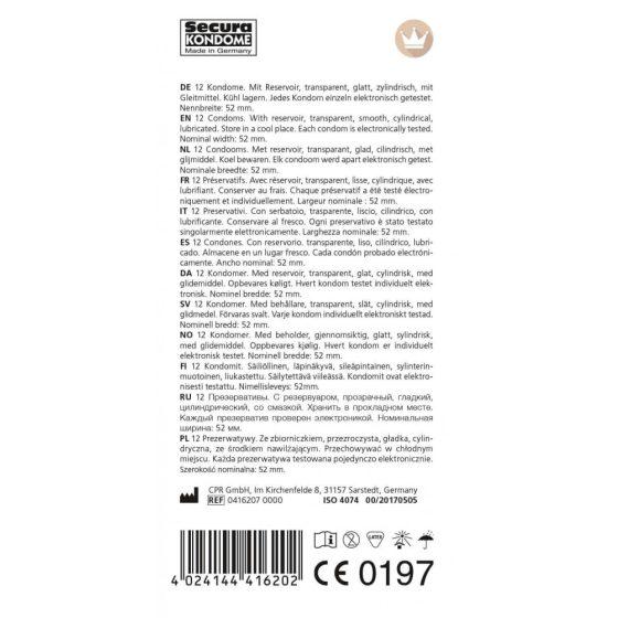 Secura Original - áttetsző óvszerek (12db)