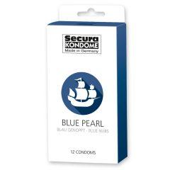 Secura Black Pearl - gyöngyös fekete óvszerek (12db)