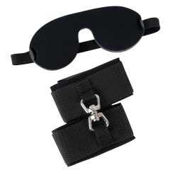 Bad Kitty - bilincs és szemtakaró (fekete)