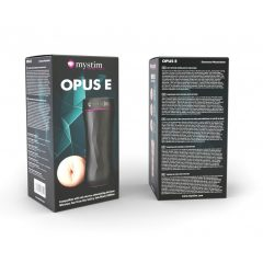 Mystim Opus E Vagina - elektro műpunci maszturbátor (natúr-fekete)