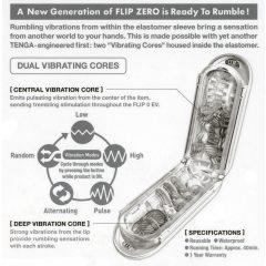 Tenga Flip Zero - vibrációs maszturbátor (fehér)