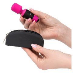 PalmPower Pocket Wand - akkus, mini masszírozó vibrátor (pink-fekete)