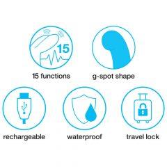 Happyrabbit G-Spot Slim - vízálló, akkus csiklókaros vibrátor (fekete)