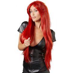 Extra hosszú, vörös paróka