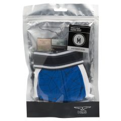 MrB Urban - Push-up-os mintás pamut alsónadrág (fekete-kék)