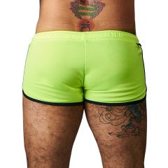 MrB Urban Ibiza - rövid férfi short nadrág (neonsárga)