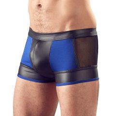 Svenjoyment - fényes boxer, necc betéttel (fekete-kék)