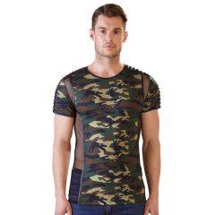 NEK - terepmintás férfi póló (zöld-barna)