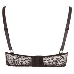 Cottelli Plus Size - pántos, gyűrűs mellemelő (fekete)