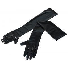 Cottelli - Hosszú, fényes kesztyű (fekete)