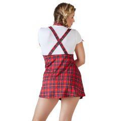 Cottelli Plus Size - szexi diáklány jelmez szett (2 részes)