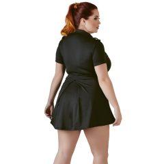 Cottelli Plus Size - szexi rendőrnő ruha jelmez (fekete)