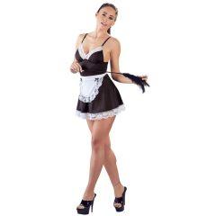 Cottelli - szobalány ruha köténnyel (fekete-fehér)