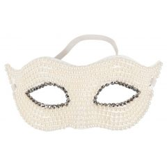 Cottelli - előformázott, gyöngyös szemmaszk (fehér)