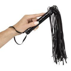 Bad Kitty - drágakőmintás korbács (fekete)
