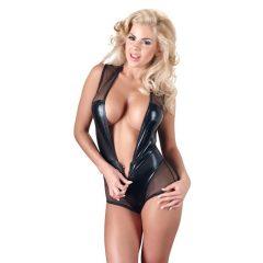Cottelli - fénylő necc body (fekete)