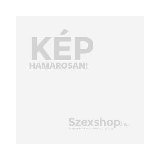 Cottelli Bondage - áttetsző, nyitott body kézrögzítőkkel (fekete)