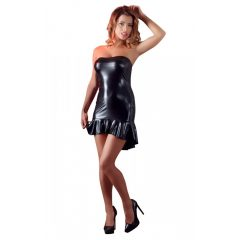 Cottelli - Szíves, fényes, aszimmetrikus ruha (fekete)