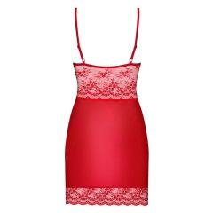 Obsessive Lovica - csipkés hálóruha tangával (piros)