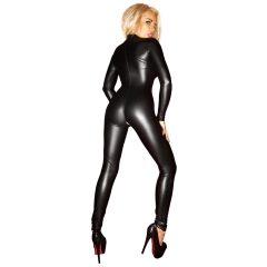 Noir - Fényes, hosszúujjú overall (fekete)
