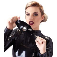 LATEX  - szopóálarc szopócsővel (fekete)