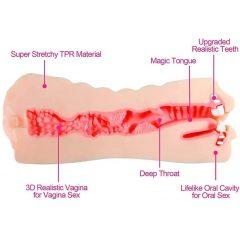 Tracys Dog Pocket - élethű műpunci és száj maszturbátor (natúr)