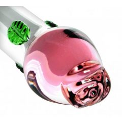 Prisms Blooming - rózsás üveg dildó (pink)