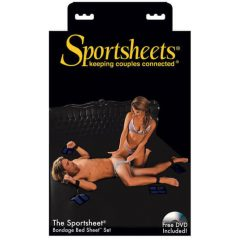 Sportsheets - ágyhoz kötöző szett (fekete)