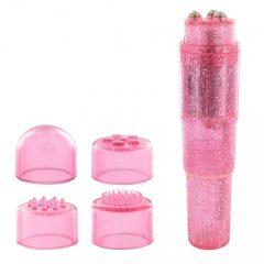 LoversPremium Pocket Rocket - vibrátor szett - pink (5 részes)