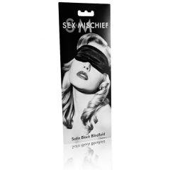S&M - szatén szemmaszk (fekete)