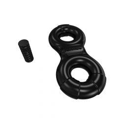 Bathmate Vibe Ring Eight - akkus, vibrációs péniszgyűrű (fekete)