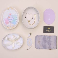 ZALO Baby Heart - akkus, vízálló luxus csikló vibrátor (fehér)