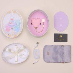 ZALO Baby Heart - akkus, vízálló luxus csikló vibrátor (viola)