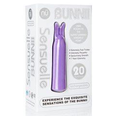 Sensuelle Bunnii - akkus, vízálló, nyuszis rúdvibrátor (lila)
