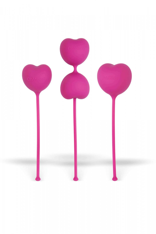 Ohmibod - gésagolyó szett - pink (3 részes)